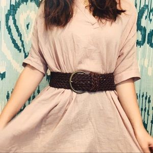 Accessories - WIDE BOHO LEATHER VINTAGE BRAIDED BELT